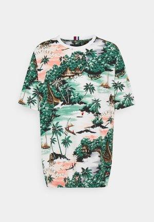 ALL OVER HAWAIIAN PRINT TEE - T-shirt imprimé - white