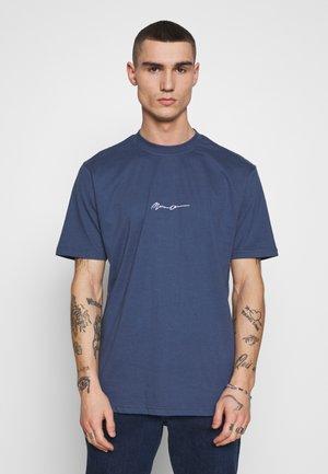 ESSENTIAL SIGNATURE  - Basic T-shirt - blue