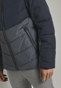 TOM TAILOR - Winter jacket - blue melange structure - 4