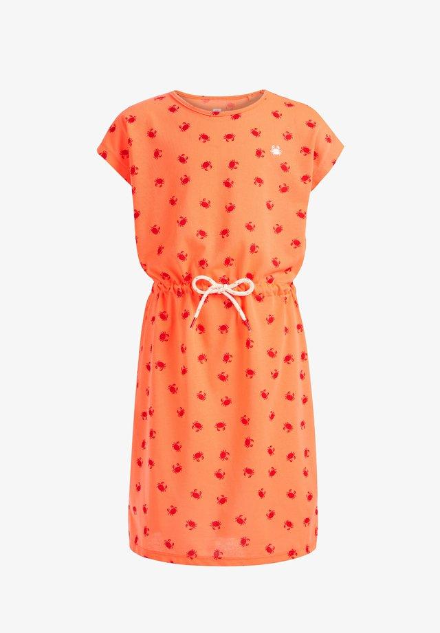 MET KRABDESSIN - Korte jurk - bright orange