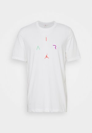 AIR CREW - T-Shirt print - white/vivid purple/infrared