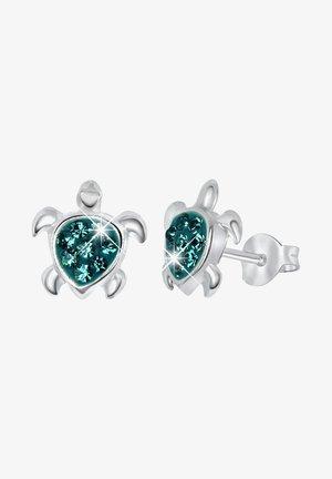Earrings - zilverkleurig/donkergroen