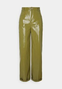 Missguided - TURN UP TROUSER - Trousers - olive - 0