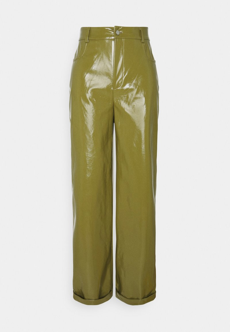 Missguided - TURN UP TROUSER - Trousers - olive