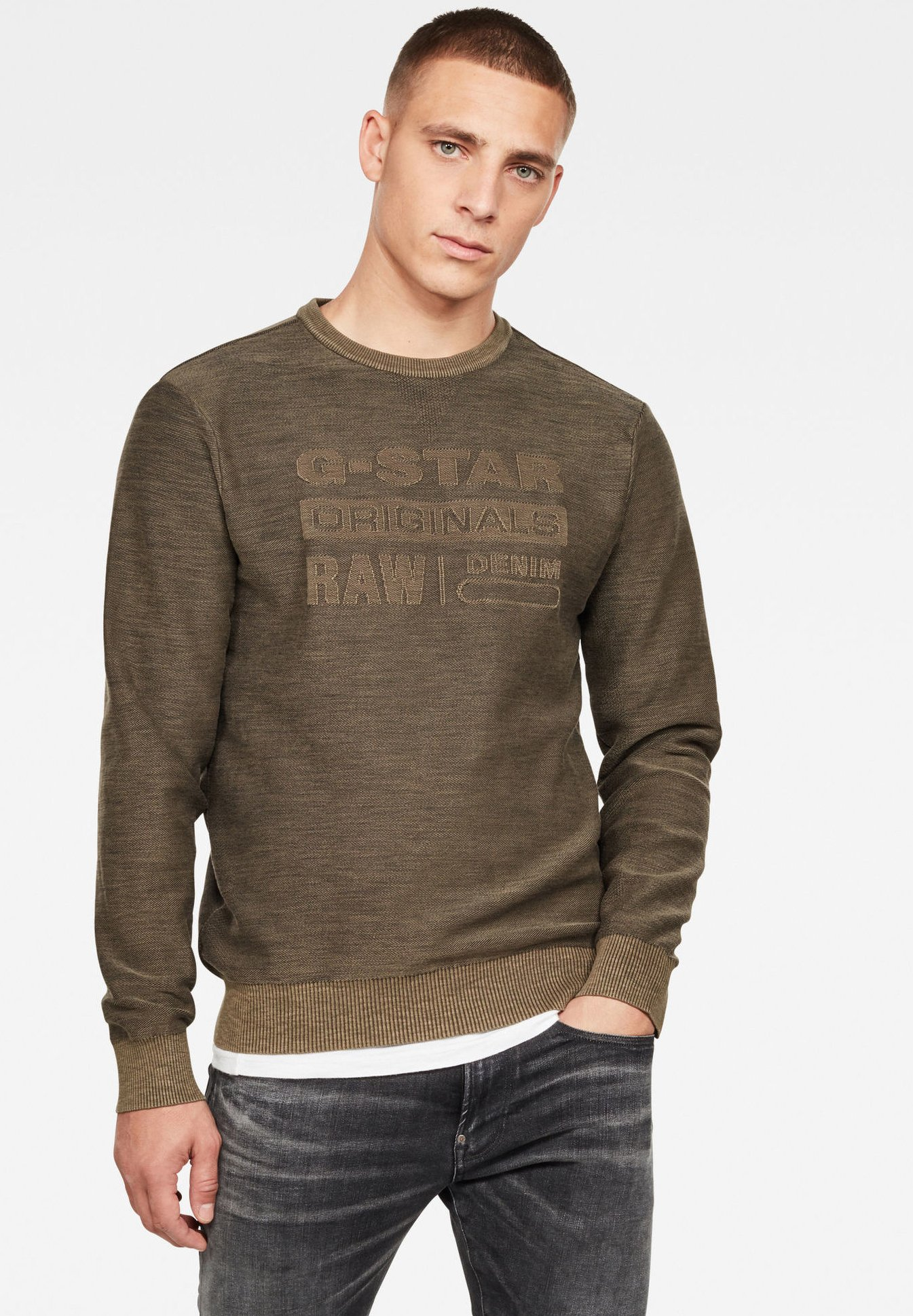 Homme PREMIUM CORE LOGO ROUND LONG SLEEVE - Pullover