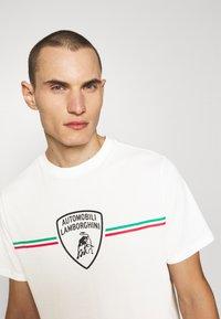 AUTOMOBILI LAMBORGHINI - T-shirt con stampa - avorio - 3