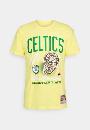 NBA BOSTON CELTICS RINGS TEE - Klubové oblečení - yellow