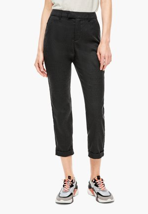 Trousers - black check