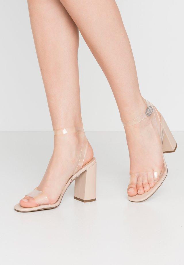 TOKA - High heeled sandals - oatmeal