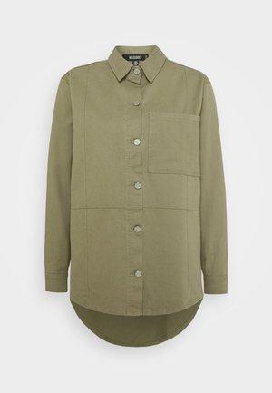 SEAMED OVERSIZED  - Button-down blouse - khaki