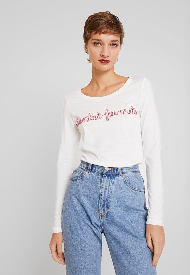 JULIAIW - Camiseta de manga larga - pure white