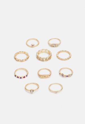 LENNA 10 PACK - Ringar - gold-coloured