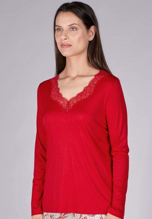 Pyjama top - scarlet