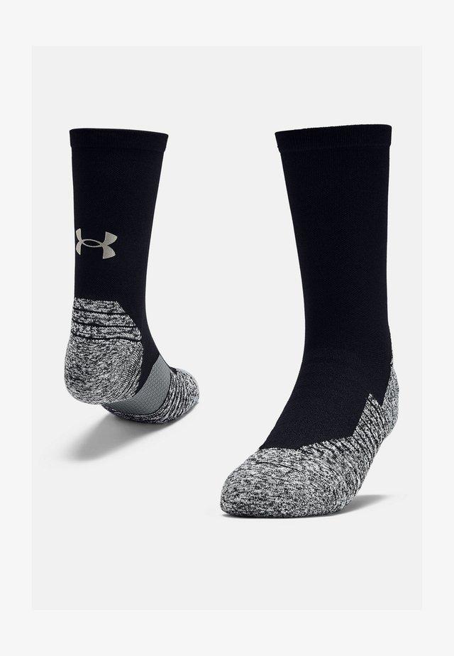 UA RUN CUSHION CREW - Socks - black