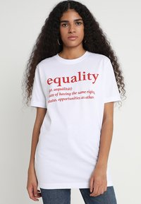 Merchcode - EQUALITY DEFINITION TEE - Print T-shirt - white - 0