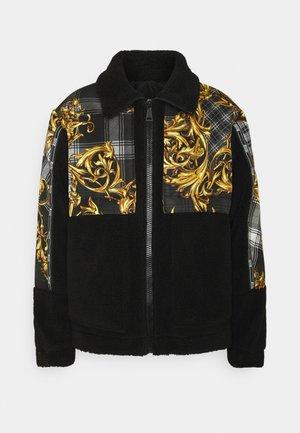 DIAGONAL PRINT TARTAN BAROQUE - Winter jacket - grigio/oro