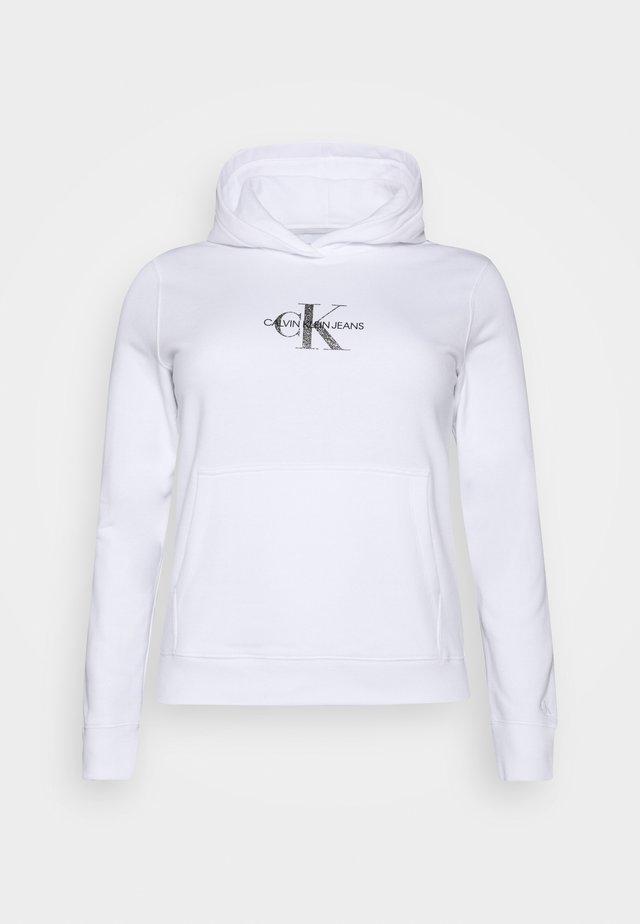 GLITTER MONOGRAM HOODIE - Sweatshirt - white
