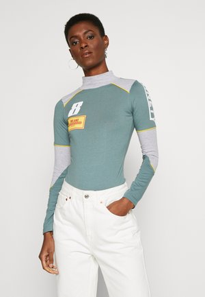 MOTORCROSS CONTRAST PIPING HIGH NECK - Body - grey/sage