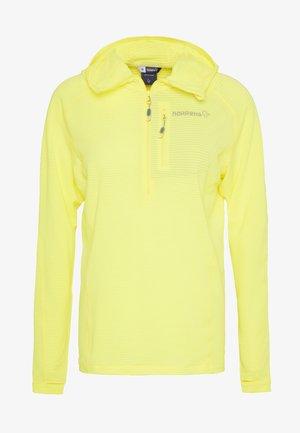 BITIHORN WARM STRETCH HOODIE - Fleece jumper - sunny lime