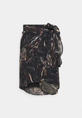 SKIRT - Mini skirt - black/natural white