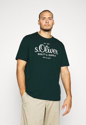 KURZARM - Print T-shirt - dark green