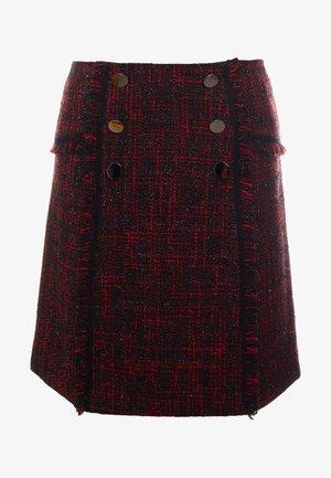 BROOKLYN GLAM SKIRT - Áčková sukně - red black