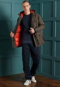 Superdry - ACADEMY DYED TEXTURE - Pullover - washed dark storm navy - 1