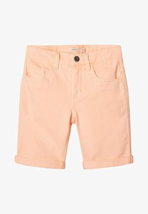 Denim shorts - peach nectar