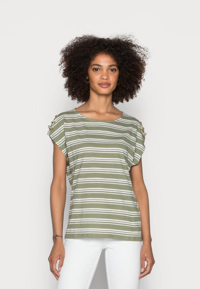 Esprit - BUTTON - T-shirts med print - light khaki