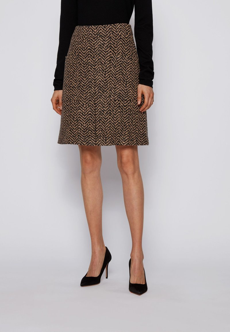 BOSS - C_VACEVY - A-line skirt - patterned