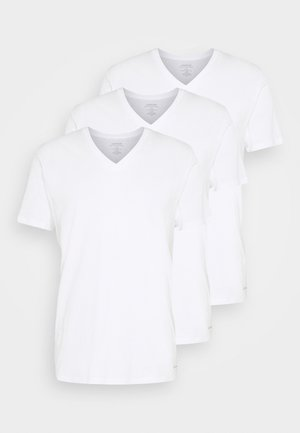 CLASSICS V NECK 3 PACK - Undershirt - white