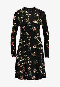Dorothy Perkins - WINTER FLORAL PRINT HIGH NECK SWING - Jersey dress - black - 3