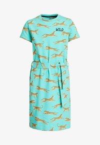 WE Fashion - MET LUIPAARDPRINT - Jersey dress - mint green - 3