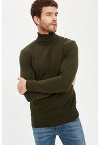 DeFacto - Stickad tröja - khaki - 4