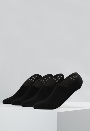 INVISIBLE SNEAKER 4 PACK - Trainer socks - black