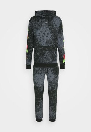TIE DYE ROSE TRACKSUIT - Sweater - black