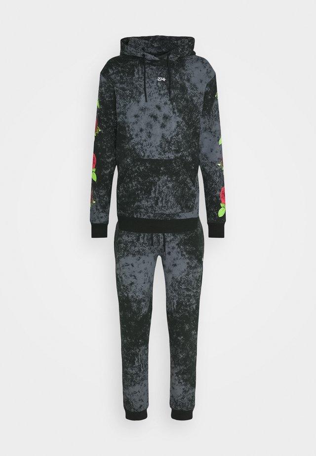 TIE DYE ROSE TRACKSUIT - Sweatshirts - black