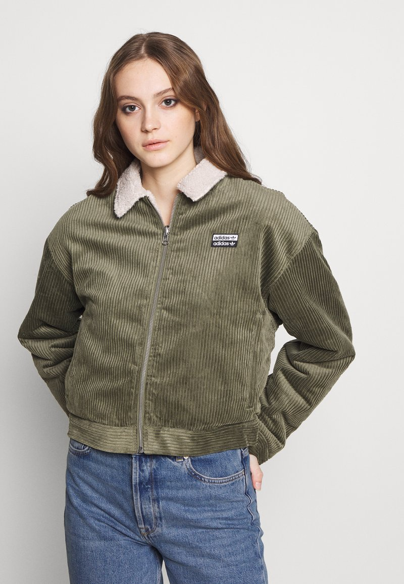 adidas Originals - JACKET - Lehká bunda - legacy green/clear brown
