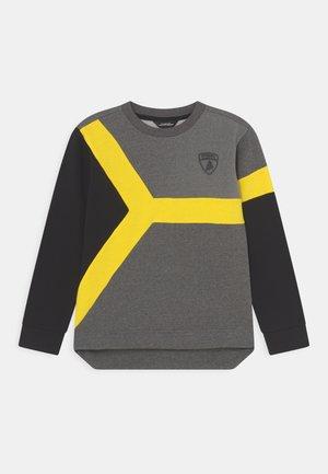 CREW NECK WITH COLOUR INSERT - Sweatshirt - dark grey