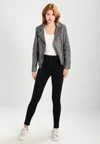Oakwood - Leather jacket - anthracite - 1