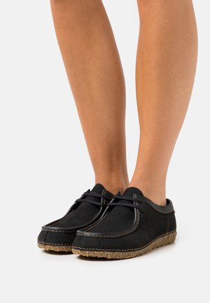 Casual lace-ups - black/redes