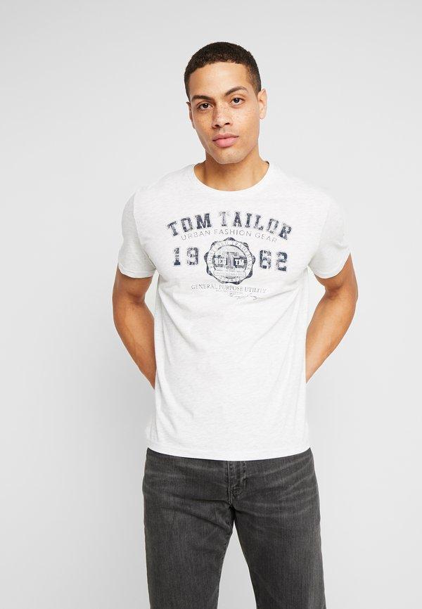 TOM TAILOR BASIC T-SHIRT 3 PACK - T-shirt z nadrukiem - blue/niebieski Odzież Męska HXUY