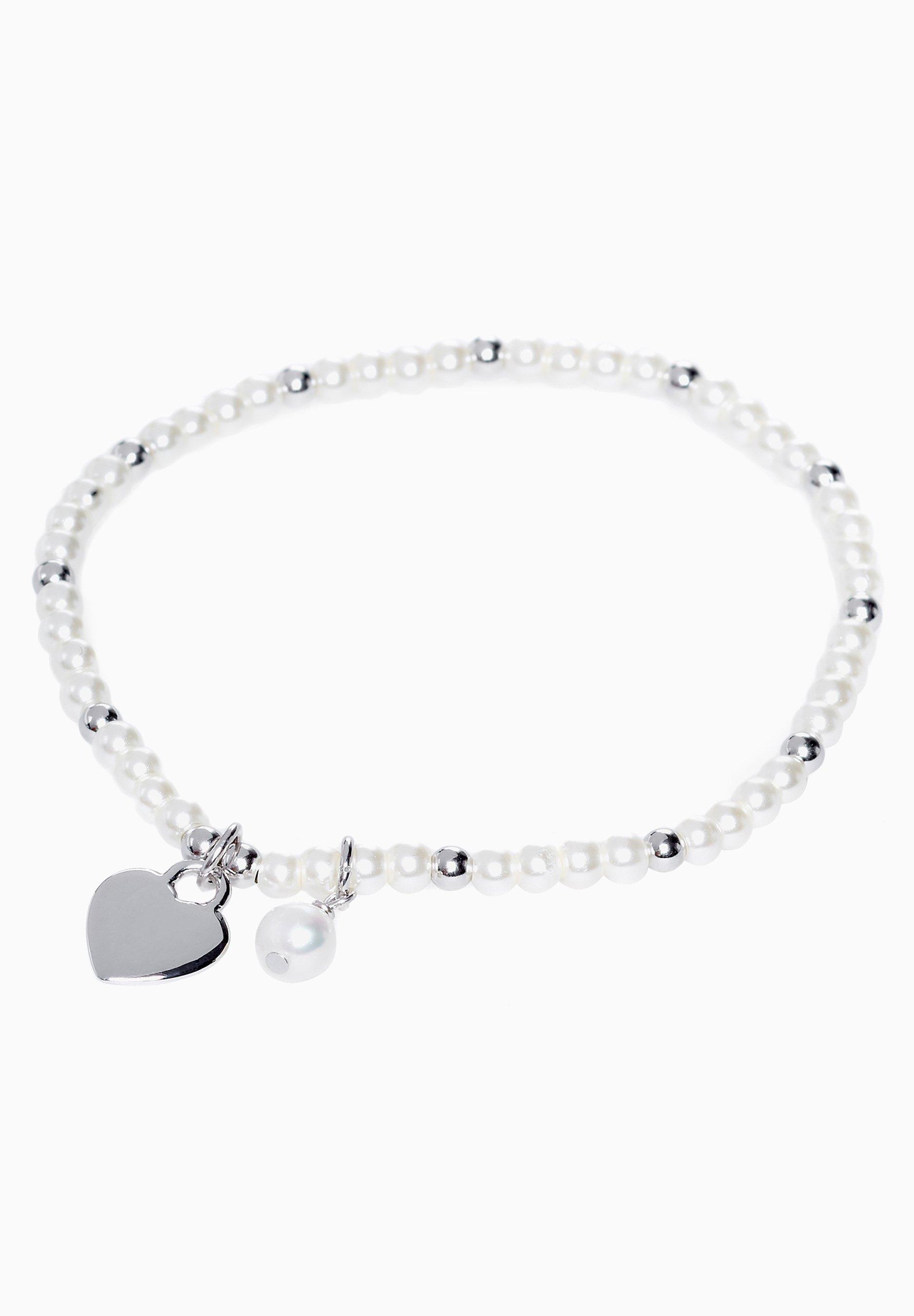 Femme WHITE STERLING SILVER PEARL EFFECT BRACELET - Bracelet
