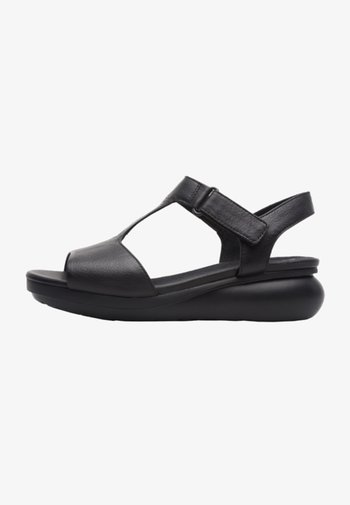 BALLOON - Wedge sandals - black