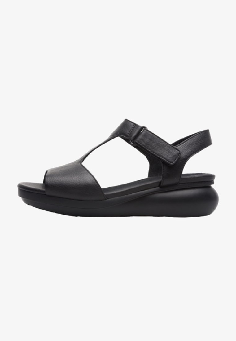 Camper - BALLOON - Wedge sandals - black