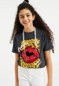 WE Fashion - Print T-shirt - dark grey - 1