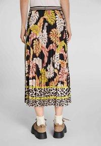Oui - A-line skirt - black camel - 2