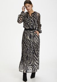 Kaffe - KAVENDA  - Button-down blouse - black zebra print - 1