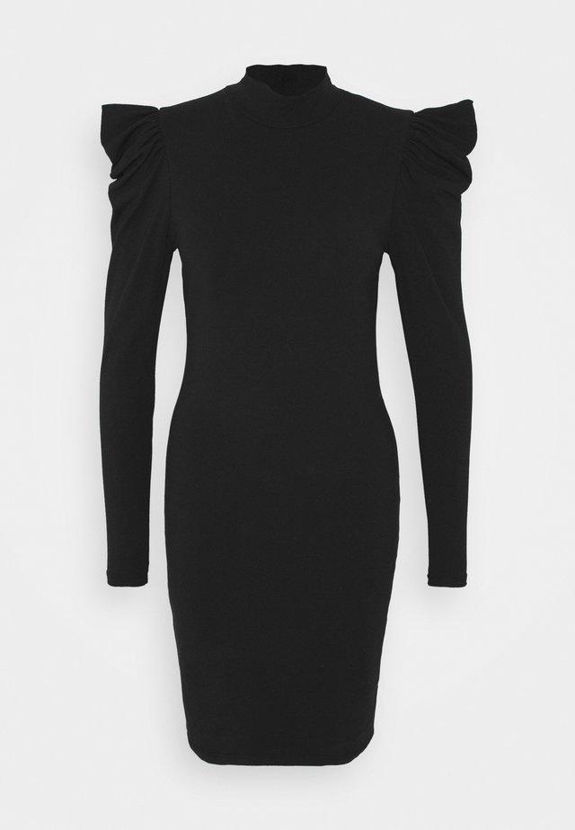 ONLLIVE LOVE LIFE PUFF DRESS - Etui-jurk - black