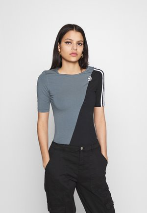 BODY - Print T-shirt - blue oxide/black